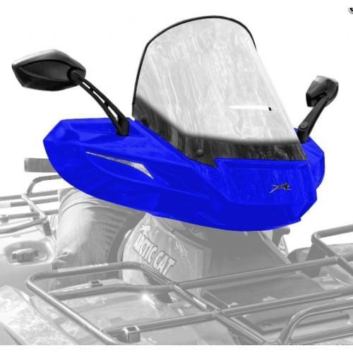 Стекло для квадроцикла универсальное с зеркалами ATV WindPro Viper BLUE